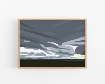 Landscape Artwork Print - Digital Painting - Wall Art - Home Decor