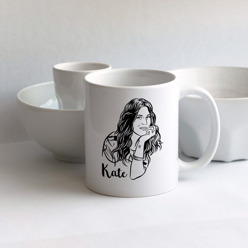 Custom portrait mug for newly engaged gift image 0
