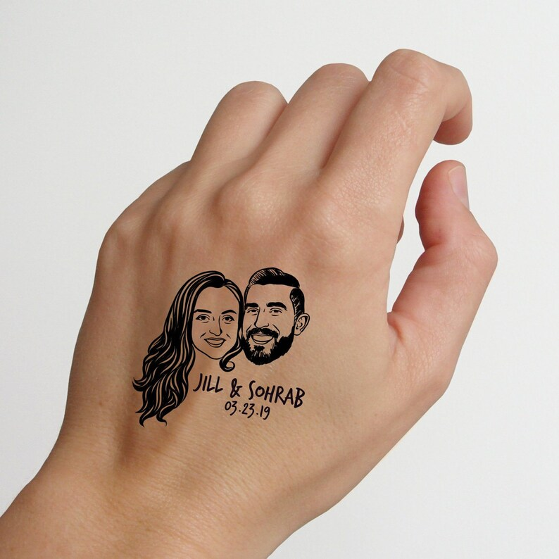 Wedding favors for guests  Personalize gift temporary tattoos image 0