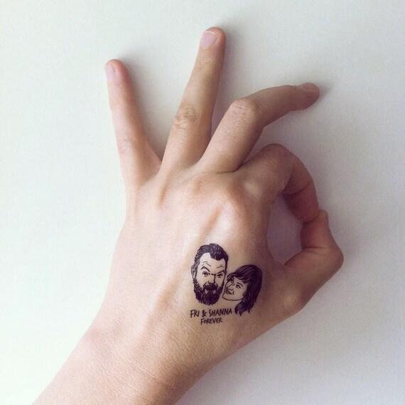 Hochzeitsgeschenke für Gast individuelle Porträts Paare Tattoo | Etsy