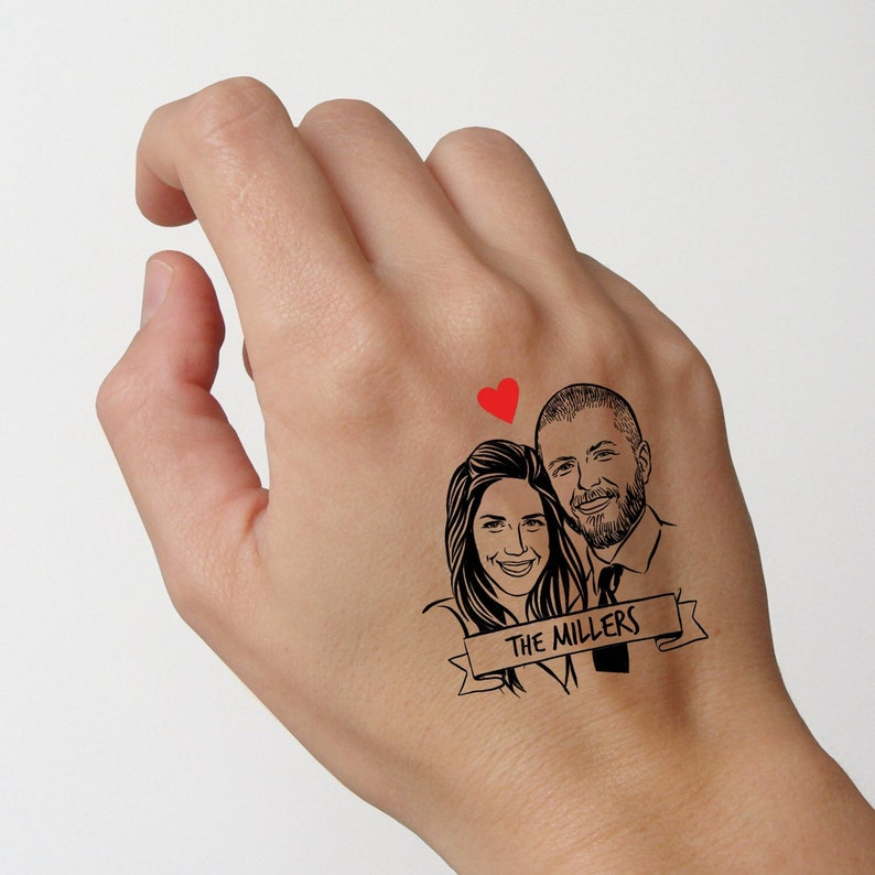Custom Wedding Tattoos favors for guest image 0