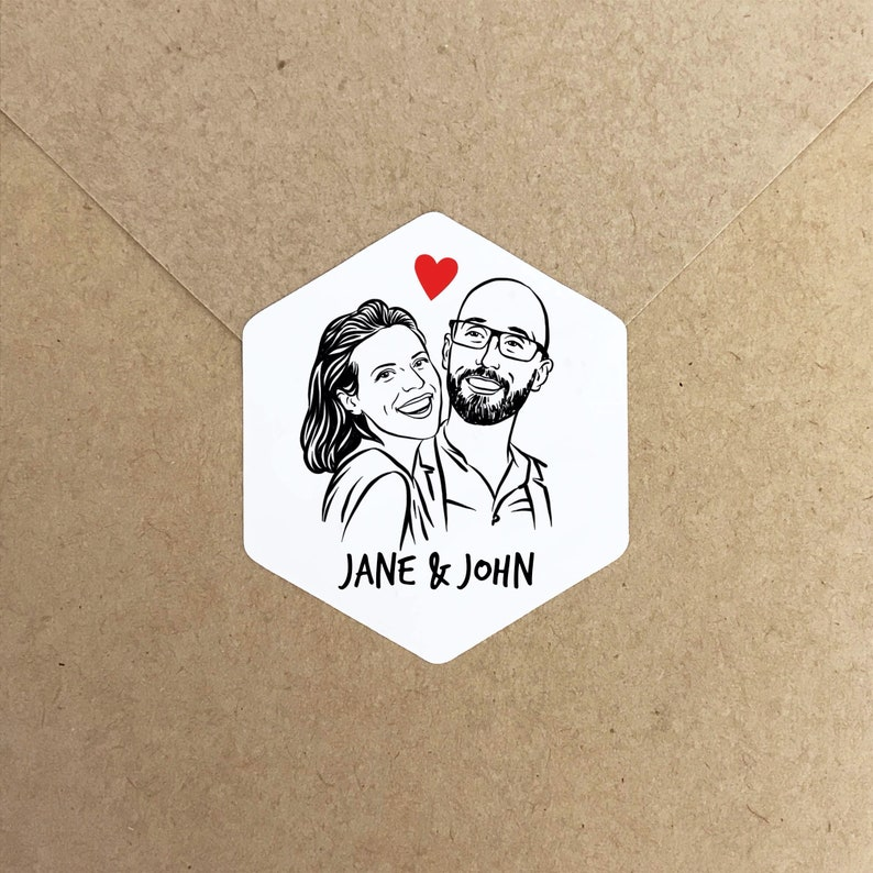 Personalized Stickers for wedding save the date image 0