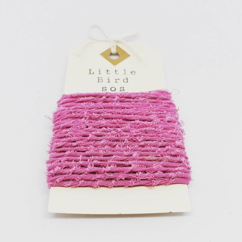 Pink Recycled Cotton Yarn/Twine  5 Metres image 0
