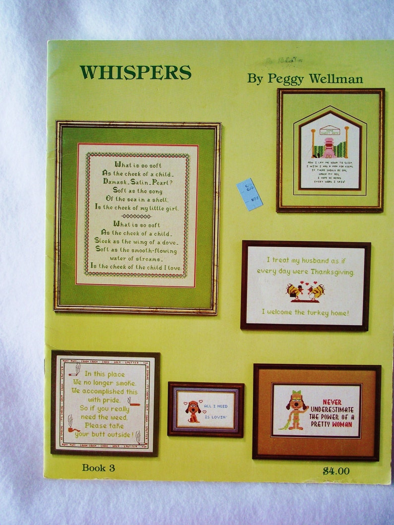 d0512116ba4d Cross Stitch Pattern WHISPERS by Peggy Wellman Counted | Etsy
