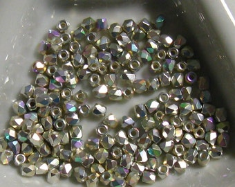 Fire Polish True 2MM .999 Fine Silver Plated AB -  Approx 100 pieces