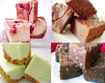Julie's Fudge - CLEARANCE SAMPLER - Four Flavors - Over 1 Pound - You Choose from Seven Options