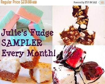 SALE Julie's Fudge SAMPLER of the Month - One pound, four flavors - YOU Choose - 8 Months of Yumminess