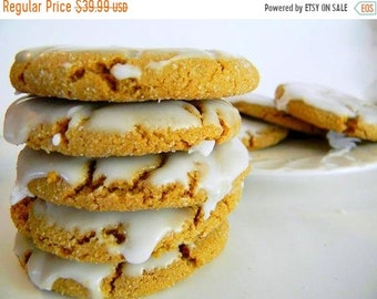 SALE The Ultimate Iced Molasses Cookies - The Middle Ones - TWO DOZEN (24 cookies)
