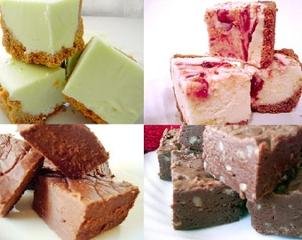 Julie's Fudge - OVERSTOCK Sampler Pack - Choose Four Flavors - Over One Pound