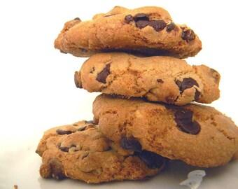 Dark Chocolate & White Chocolate Chip Cookies - HALF DOZEN (6 cookies)