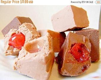 SALE Julie's Fudge - Cherry Cordial with Belgian MILK or DARK Chocolate - You Choose  - Half Pound