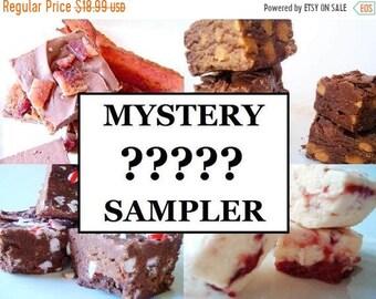 SALE Julie's Fudge - MYSTERY Mini Sampler Pack - Three Flavors - Three Quarter Pound