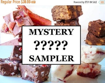 SALE Julie's Fudge - MYSTERY Fudge Lover's Sampler Pack - Six Flavors - One and a Half Pounds