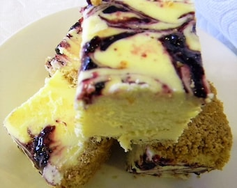 Julie's Fudge - BLUEBERRY Lemon Cheesecake - Half Pound