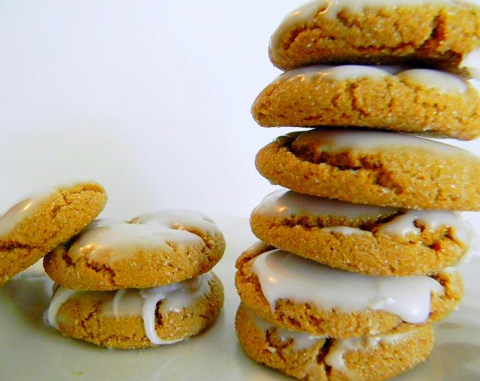 The Ultimate Iced Molasses Cookies - The Little Ones - FOUR DOZEN (48 cookies)