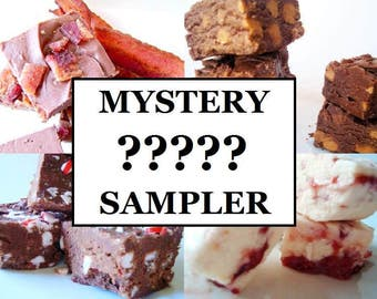 Julie's Fudge - MYSTERY Mini Sampler Pack - Three Flavors - Three Quarter Pound