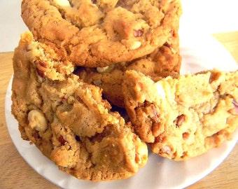 White Chocolate, Pecan, Caramel Cookies - ONE DOZEN (12 cookies)