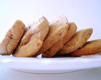 Great Grandma's Icebox Cookies - with TOFFEE Chips - THREE DOZEN (36 cookies)