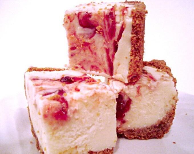 Julie's Fudge - Strawberry CHEESECAKE With Graham Cracker Crust - Over Half Pound