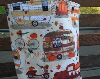 Car Trash Bag,Trash Bin,Cute Car Accessory,Headrest Bag,Trash Container,Walker Bag,Toy Organizer,Bedpost Bag,Campers,Trucks,Fall Scenes