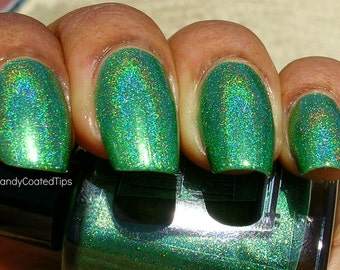 Green Gables - Grass Green Holographic Nail Polish