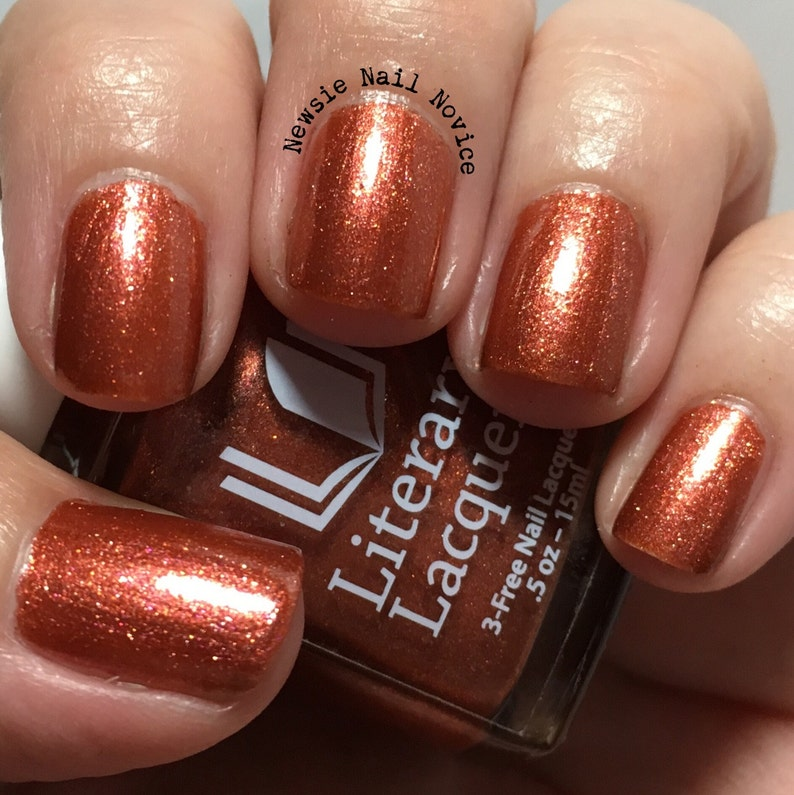 Afterglow  Full Sized Burnt Orange Metallic Nail Polish image 0