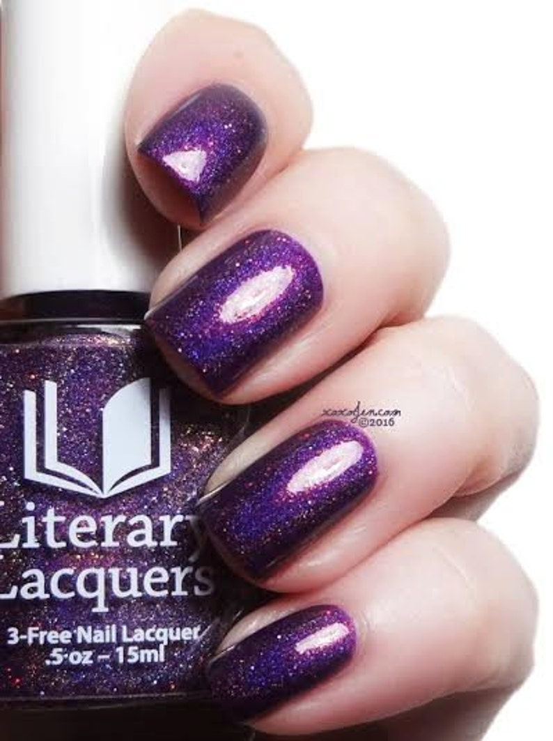 Soul Within Me Burning  Warm Purple Holographic nail lacquer image 0