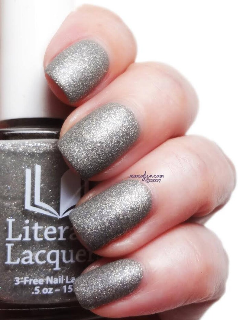 Swaying Grayly  Matte Grey with Silver Flakies Nail Polish image 0