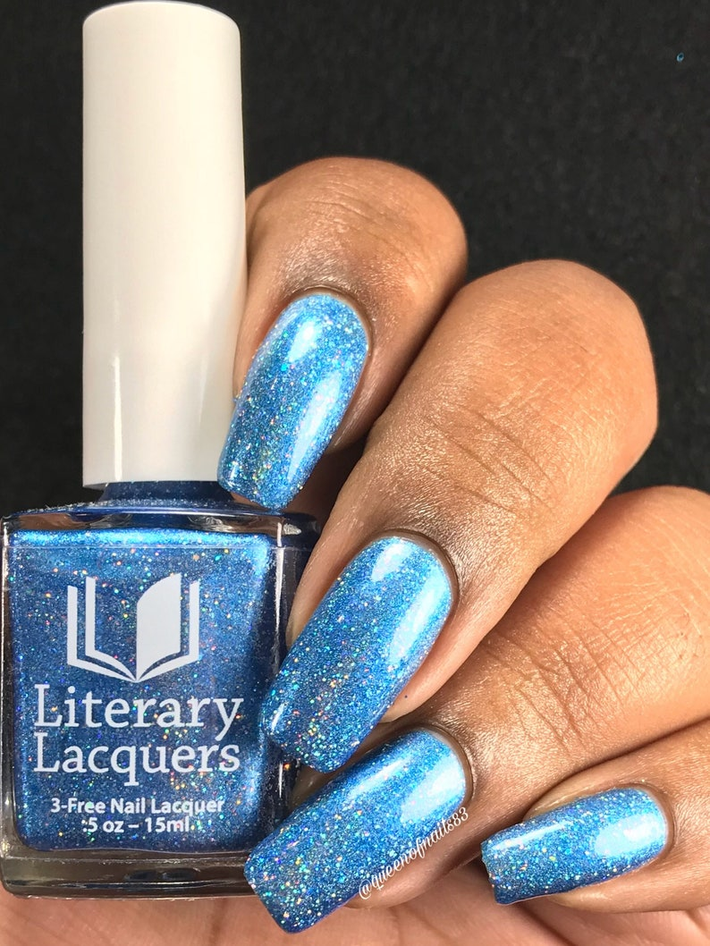 Curiouser and Curiouser  Blue Holographic Nail Polish  Alice image 0