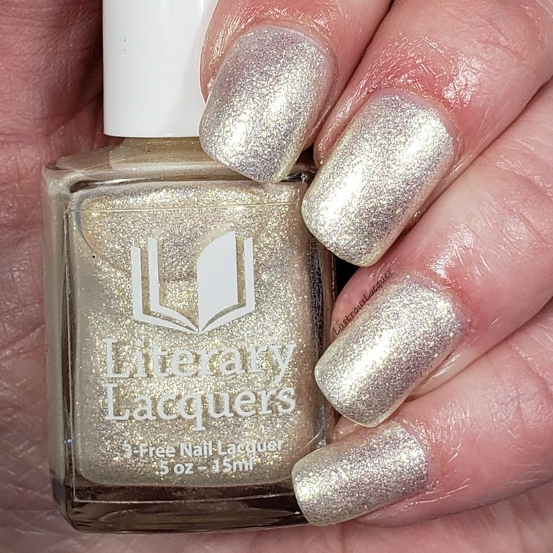NEW Cursebreaker  White gold shimmer polish   A Court of image 0