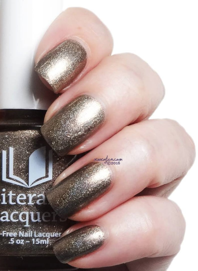 Sweet Lenore  Bronze metallic holographic nail polish image 0