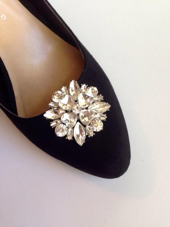 Adornos para los Zapatos De Broche Imitacion de Diamantes Set de Dos