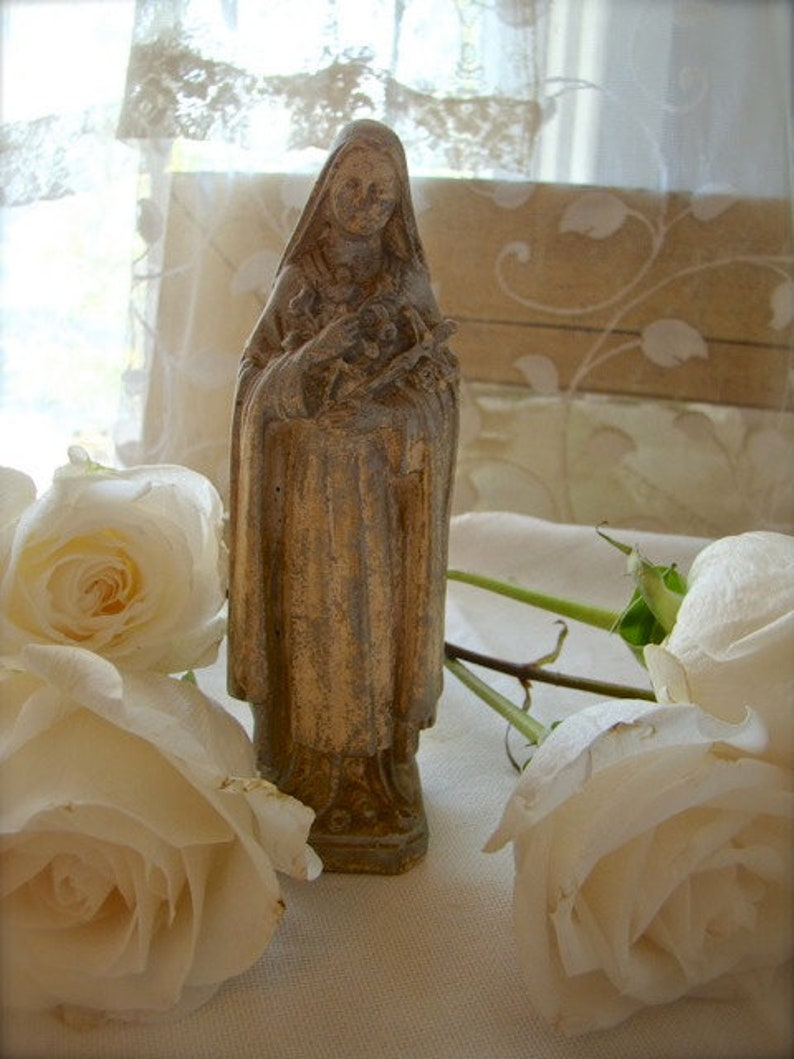 St. Therese religious statue, vintage