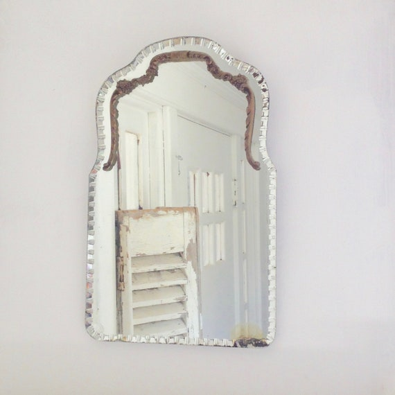 Vintage French beveled mirror
