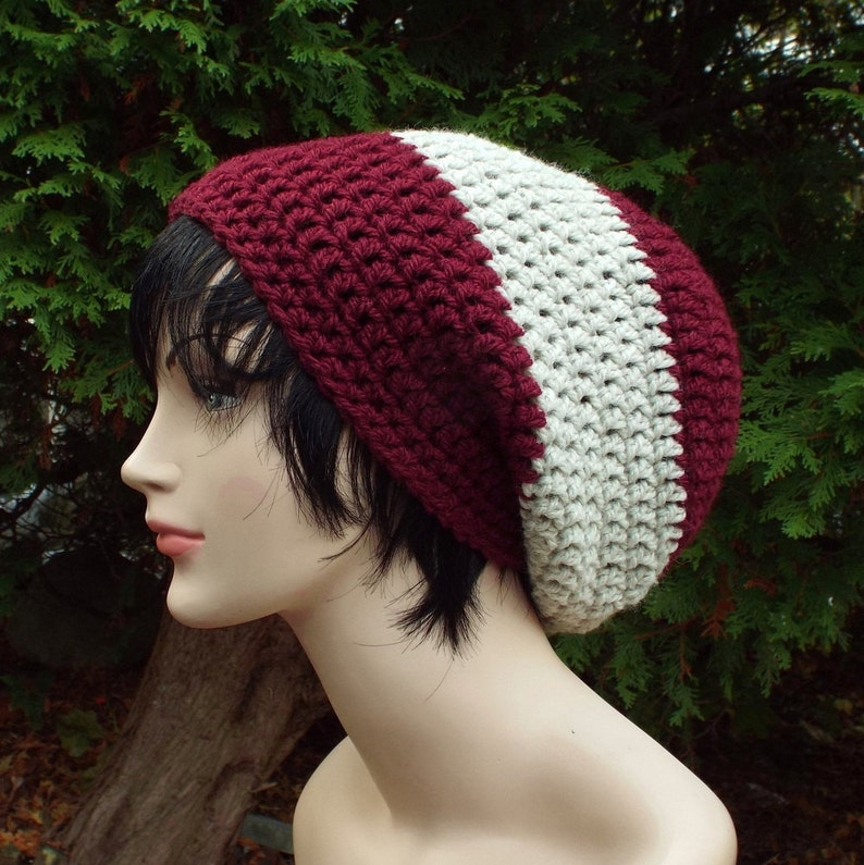 Mens Slouchy Beanie Oversized Slouch Beanie Chunky Hat image 0