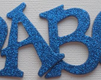 "Polka Dots Chipboard Alphabet Letters Die Cuts 1.5/"" SKY BLUE Best Creation"