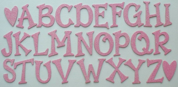 "1.5/"" inch SILVER GLiTTER Chipboard Letters Alphabet Die Cuts 1.5/"" Tall"