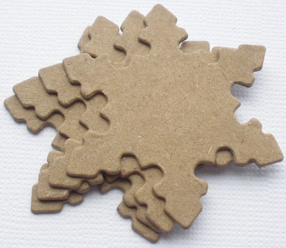 {4} LARGE  HEARTS Raw Bare Unfinished Chipboard Die cuts