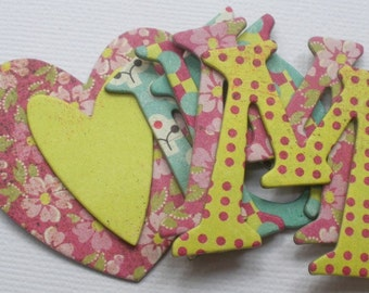 """HELLO LUCiOUS - Chipboard Letters & Alphabet Die Cuts  .. 1.5"""" Tall"""