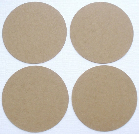 Coasters  Bare Unfinished Chipboard Die Cuts {6} NESTING CIRCLES