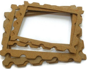 STAMP FRAMES - Bare Chipboard Die Cuts - Small and Medium Combo Sets