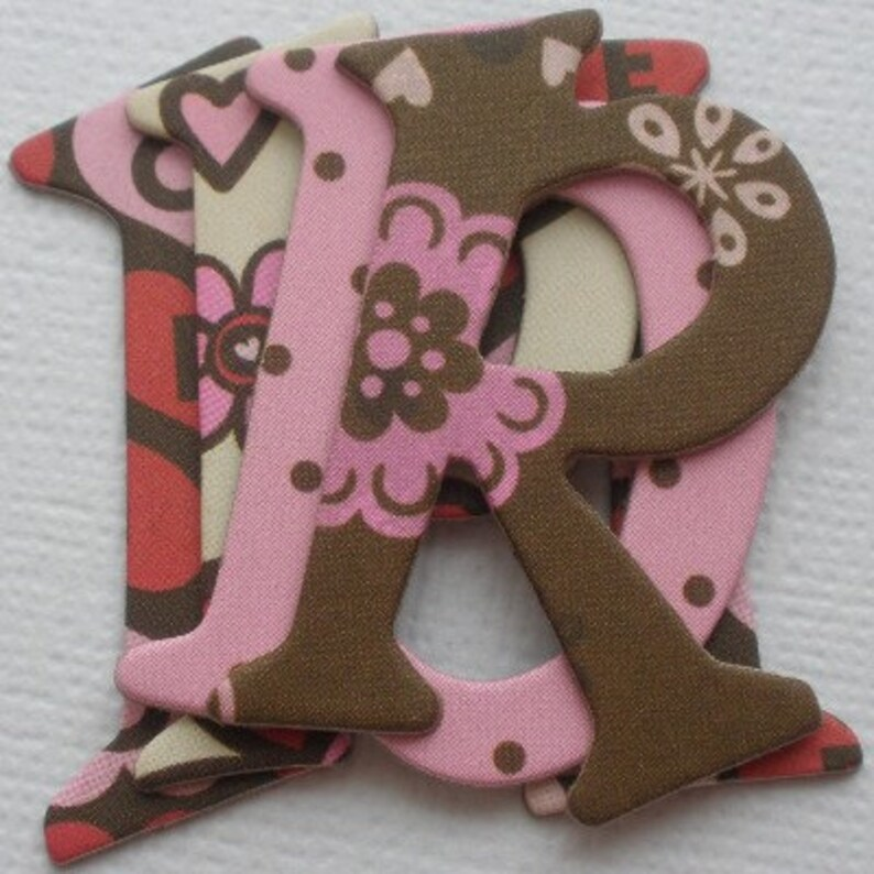 "Bo Bunny Chipboard Alphabet Letters Die Cuts 1.5/"" ALORA  BiRDiE"