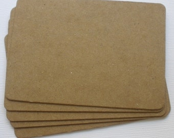 5 ATC -  Artist Trading Cards - Raw CHiPBOARD Bare Die Cuts