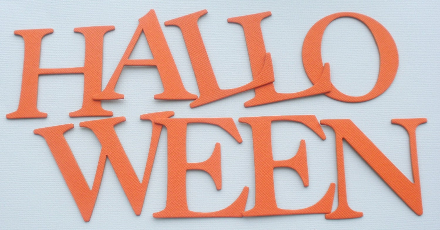 happy halloween chipboard die cut letters 2 tall | etsy