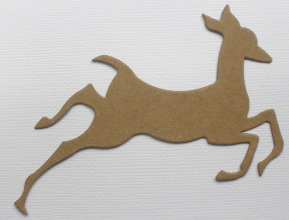 Christmas Raw Bare Unfinished Chipboard Die Cuts REINDEER 4