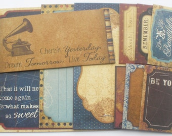 WEEKEND MARKET -  Journal Cards Chipboard Die Cuts - Includes: Journal Spots, Picture Cards & Sentiments
