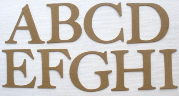 4 Elegante Cardstock Oder Spanplatten Buchstaben Etsy