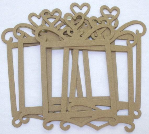Princess Heart Frames Chipboard Die Cuts Bare Craft Frame Etsy