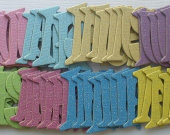 """165 Pc  SPARKLY GLiTTER DUST - Chipboard Alphabet Letters Die cuts - 1.5"""" tall"""