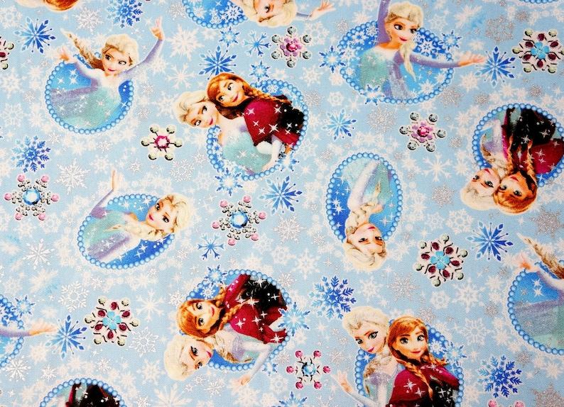Craft Fabric Disney Frozen Princess Anna Elsa Licensed Character Cotton Dress